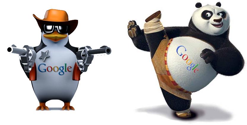 Penalización por algoritmo de Google Panda y Google pinguino en el SEO Posicionamiento Web